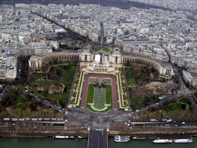 View across the Seine from the Eiffel Tower